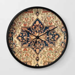 Ferahan  Antique West Persian Rug Print Wall Clock