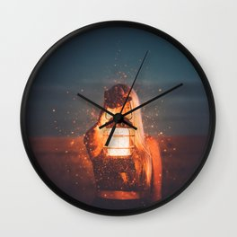 Where The Light Is Wall Clock