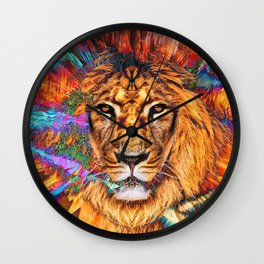 Iron...Like A Lion...In Zion Wall Clock