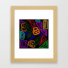 the pattern is made in Colombian style Framed Art Print
