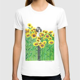Sunflower Girl Himawari T-shirt