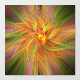 Iris Twirled Canvas Print