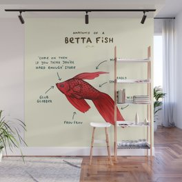 Anatomy of a Betta Fish Wall Mural