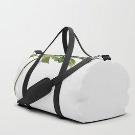 Single Monstera Leaf In Clear Glass Zen Minimalist House Plant Photo Duffle Bag