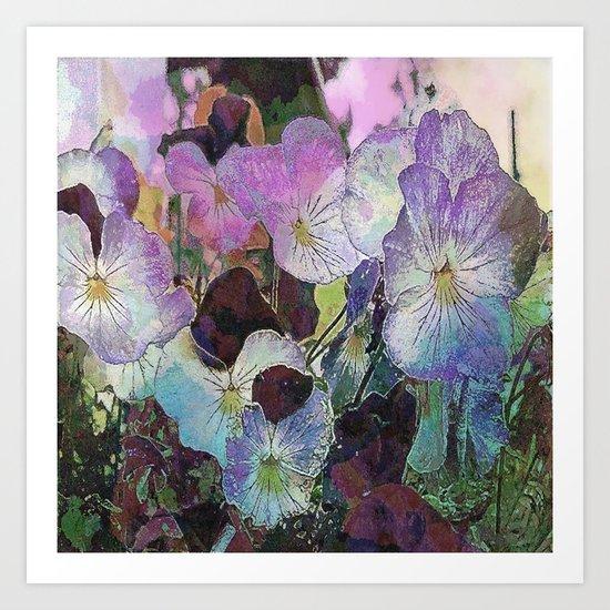 Pansies Purple Art Print