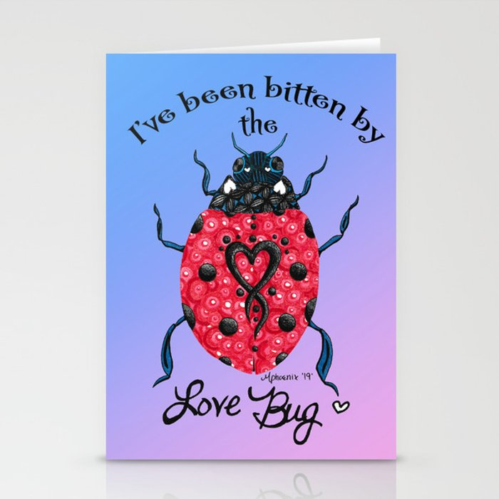 Love Bug Stationery Cards