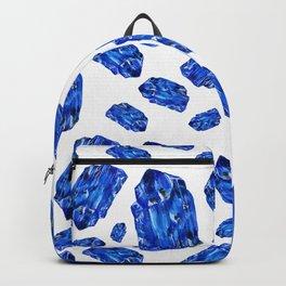 Tanzanite Birthstone Watercolor Illustration Backpack