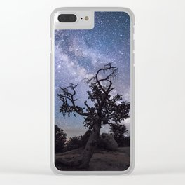 Astronomer's Tree Clear iPhone Case