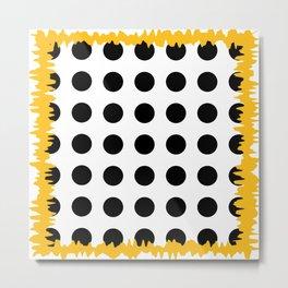 Black - White - Yellow Metal Print