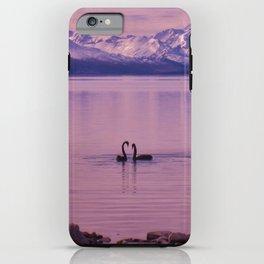 Black swans in love iPhone Case