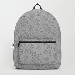 Shades of Grey Mandala Kaleidoscope A171B Backpack