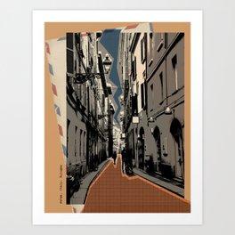Parma -vintage post card Art Print