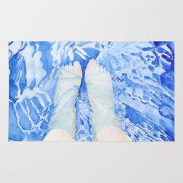Feet in the pool Rug