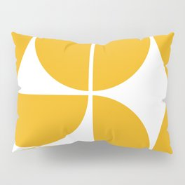 Mid Century Modern Yellow Square Pillow Sham