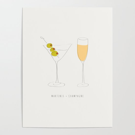 Martinis + Champagne by carrielymandesigns