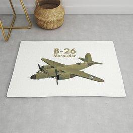 B-26 Marauder WW2 Medium Bomber Rug
