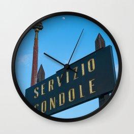 Gondola to the moon Venice Italy Wall Clock