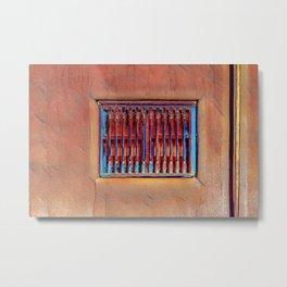 Santa Fe Wall and Window #6 Metal Print