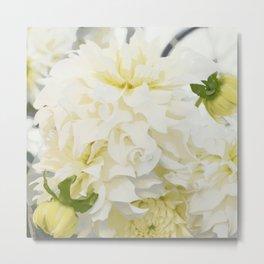 Cream Peonies | Flowers | Flower | Florals | Nadia Bonello | Canada Metal Print