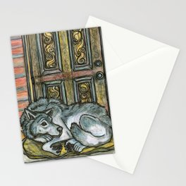 Wolf at the Door Stationery Cards