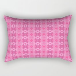 Wild Roses With Garden Background Abstract Rectangular Pillow