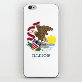 Illinois State Flag, authentic color & scale iPhone Skin