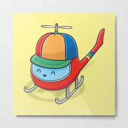 Happy Copter Metal Print