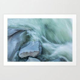 Marble River Run Art Print