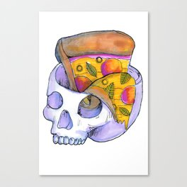 pizza on my mind Canvas Print
