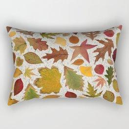 Autumn Leaves Speckle Rectangular Pillow