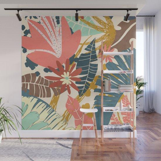 Tropical Flowers and Leaves by cityart7