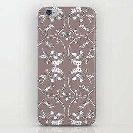 Acorns and ladybugs cocoa pattern iPhone Skin