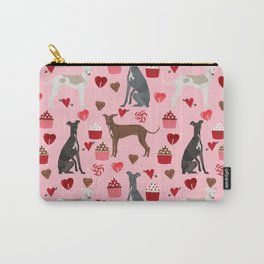 Italian greyhound love cupcakes valentines day dog breed gifts Carry-All Pouch
