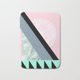 Pink Turquoise Pastel Moon Bath Mat