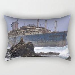 Blue boat colors fashion Jacob's Paris Rectangular Pillow