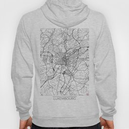 Luxembourg Map White Hoody