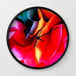 Paper Flower Wall Clock