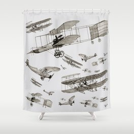 airplanes1 Shower Curtain