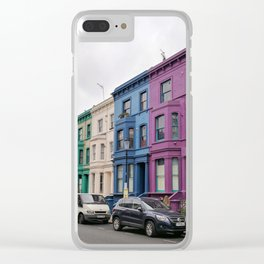 Rainbow Row Notting Hill Clear iPhone Case