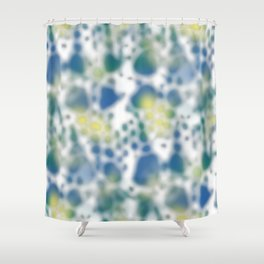 Impression of glimpses of light Shower Curtain