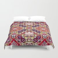 morocco Duvet Covers featuring Berry Morocco by Glanoramay