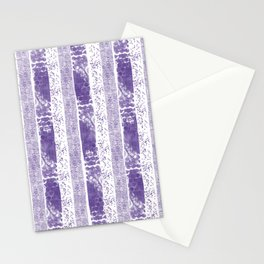 Lilac watercolor paint brushstrokes confetti stripes Stationery Cards