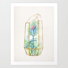 Terrarium Garden III Art Print