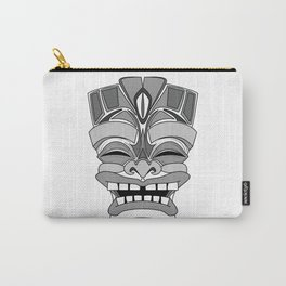 Smiling Tiki-Mask Carry-All Pouch