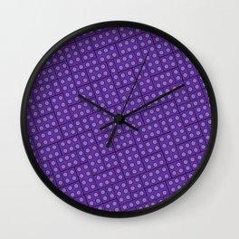 Building Blocks, Purple Bricks Wall Clock