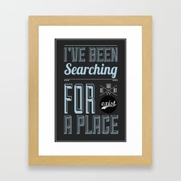 A Place That Don't Exist Framed Art Print