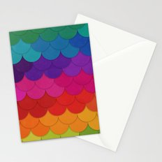Rainbow Scallops Stationery Cards