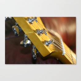 Guitar Headstock Canvas Print