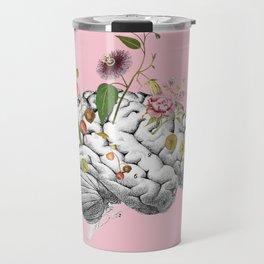Brain Flowers Collage Travel Mug