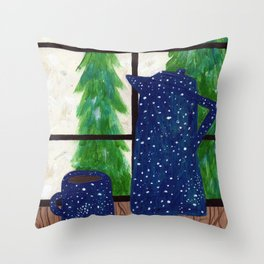 Coffee at Home Throw Pillow